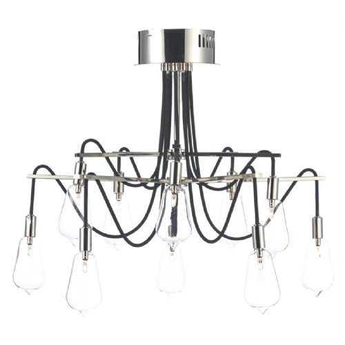 0.2) Scroll 10 Light Semi Flush Polished Nickel  (Class 2 Double Insulated) BXSCR2338-17